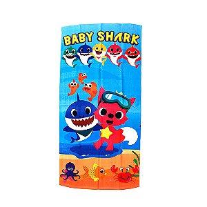 Toalha de Banho Felpuda Baby Shark Infantil Personagens