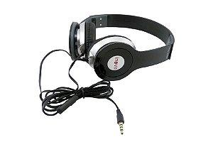 Fone De Ouvido Estéreo Com Fio E Microfone FON-2066D - Preto - Inova