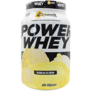Whey Protein Power Suplemento 907g - Baunilha Ice Cream - Tauros
