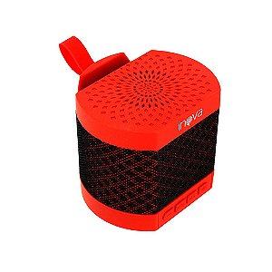 Caixa De Som Bluetooth Alto Falante Vermelha Sem Fio RAD-299Z - Inova