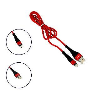 Cabo De Dados Reforçado USB Micro USB Tipo V8 Vermelho CBO-8323 - Inova