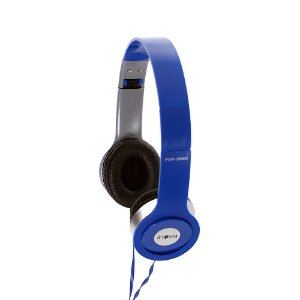 Fone De Ouvido Estéreo Com Fio E Microfone FON-2066D - Azul- Inova