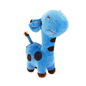 Brinquedo Infantil Girafa De Pelúcia Girafinha Azul