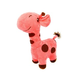 Brinquedo Infantil Girafa De Pelúcia Girafinha Rosa
