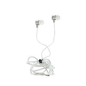 Fone De Ouvido Estéreo Com Design Aprimorado Prata FON-2101D - Inova