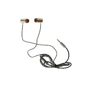 Fone De Ouvido Sport 2.0 Intra-auricular Cinza E Dourado FON-2133D - Inova