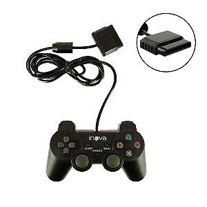 Controle PS2 Com Direção Analógica CON-147B - Inova