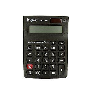 Calculadora Eletrônica Média 12 Dígitos Preta CALC-7067 - Inova