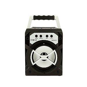 Caixa De Som Mini Móvel Com Luz De LED - Prata - RAD-8313 - Inova