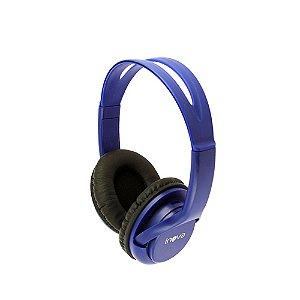 Fone De Ouvido Sem Fio 3.0 Leitor De Cartão De Memória Micro SD - Azul - FON-6701 - Inova