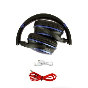 Fone De Ouvido Estéreo Sem Fio Azul FON-8160 - Inova