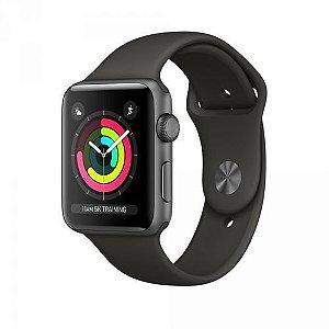 Relógio Apple Watch Series 3 Gps 38mm Space Gray Alumínio Pulseira Sport Preto