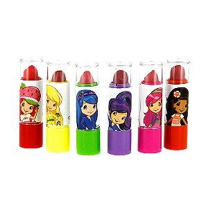 Kit 6 Batons Princesas Frutillita Infantil Lápis Labial Moranguinho E Princesas Frutillita