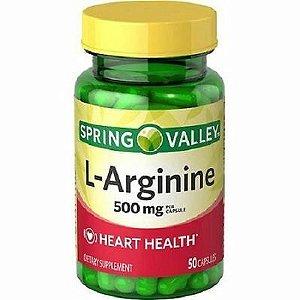 Suplemento Dietético L-Arginina 500mg Spring Valley 50 Capsulas