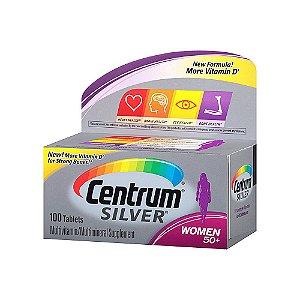 Multivitamínico Centrum Silver Mulher 50+ 100 Comprimidos