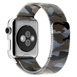 Pulseira Milanese Para Apple Watch 38mm - Camuflada Verde