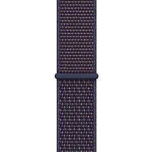 Pulseira Nylon Sport Loop Para Apple Watch 38mm - Azul/vermelho