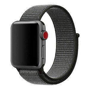 Pulseira Nylon Sport Loop Para Apple Watch 38mm - Cinza