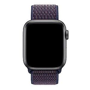Pulseira Nylon Sport Loop Para Apple Watch 42mm - Azul/vermelho