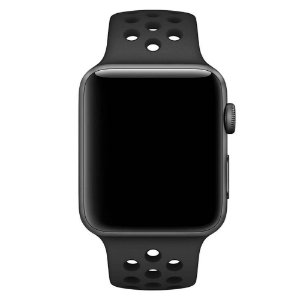 Pulseira Silicone Esportiva Para Apple Watch 38mm - Preto