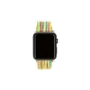 Pulseira Couro Colorido Para Apple Watch 38mm Multicores
