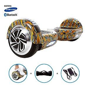 "Hoverboard 6,5"" Minions HoverboardX Bateria Samsung e Bluetooth Smart Balance Com Bolsa"