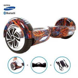 "Hoverboard 6,5"" Flash Color HoverboardX Bateria Samsung e Bluetooth Smart Balance Com Bolsa"