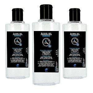 Kit Com 3 Álcool Em Gel 70 Inpm Para Limpar E Higienizar As Mãos 200ml Vie Luxe