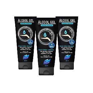 Kit 3 Álcool Gel Higienizador De Mãos Vie Luxe 70 INPM 50ml