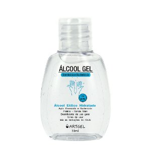 Álcool Em Gel 70 Inpm Para Limpar E Higienizar As Mãos 30ml ArtGel