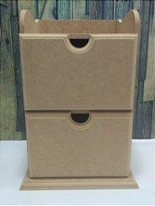 Caixa com duas gavetas | MDF | Dimensçoes: 25 x 17 x 13