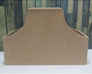 Galeteiro com 3 divisórias e tampa | MDF | Dimensões: 19 x 28 x 11