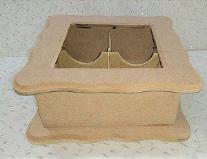 Caixa Porta Chá com Vidro