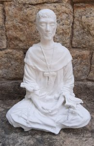 São Francisco Meditando em gesso