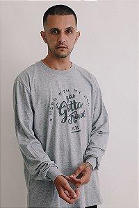 Camiseta Manga Longa OWL Gotta Trouble - Mescla