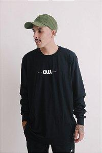 Camiseta Manga Longa OWL New Stuff - Preto