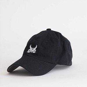 Boné Aba Curva Preto - Logo Básico