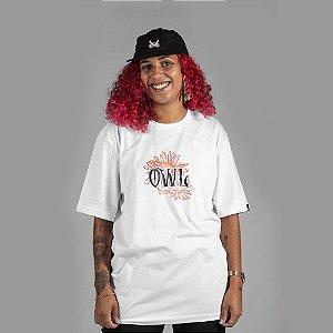Camiseta OWL Flores - Branco