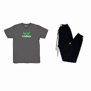 Kit Camiseta Odabliuéle Chumbo + Calça Jogger