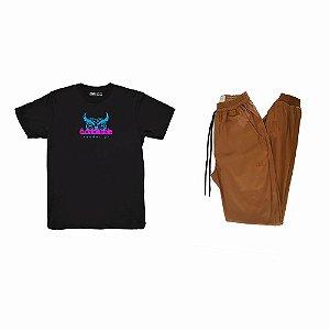 Kit Camiseta Odabliuéle Preta + Calça Jogger