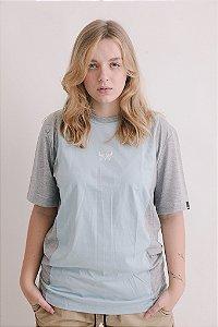 Camiseta OWL Sport Stripe - Azul Bebê e Cinza