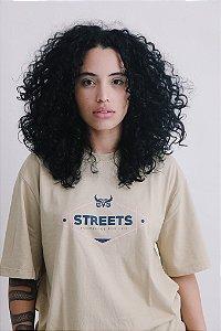 Camiseta OWL Street Knowledge - Bege