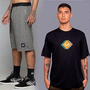 Kit Bermuda Moletom + Camiseta Cubic