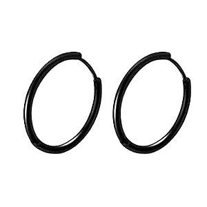 BRINCOARGOLINHADE AÇO BLACK - 1,9 CM