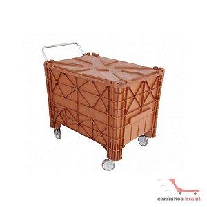 Carro coletor 530 Plastic c/ tampa
