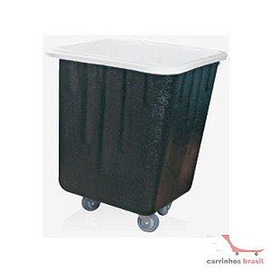 Carro lavanderia em fibra de vidro 200 lt sem tampa