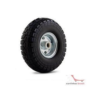 Rodinha pneumática 3.50-4 eixo 7/8  rolete
