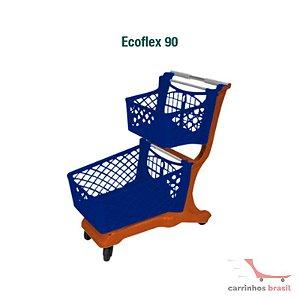Carro supermercado plástico 90 lts Ecoflex