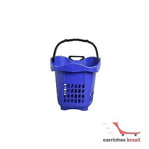 Cesta plástica com rodas 1200 B Azul