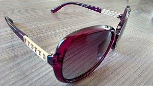 Óculos de sol feminino clássico LRC - lentes polarizadas, antirreflexo, proteção UV400